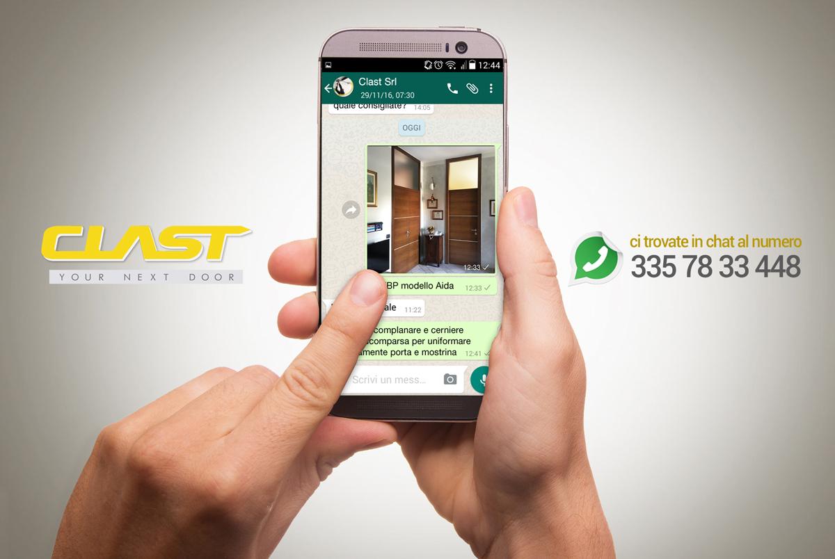 whatsapp clast Whatsapp | Clast srl: porte, portoni, sicurezza, cancelli, automazioni. Via Soncino 5, Trescore Cremasco