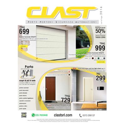 Volantino promo ed offerte clast 2016 - Sezionali, porte , portoni cancelli ed automazioni a prezzi imbattibili!