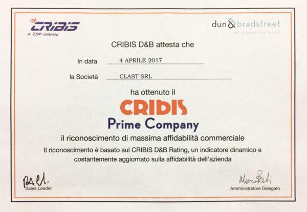 cribis clast 2017 600x415 Clast srl è al massimo grado di affidabilità per Cribis D&B 2017 | Clast srl: porte, portoni, sicurezza, cancelli, automazioni. Via Soncino 5, Trescore Cremasco