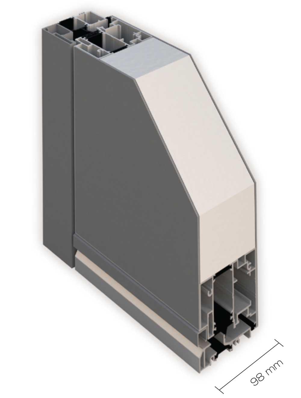 sezioni kds KDS100 Portoncini in alluminio Kopen. Clast apre allinnovazione Made in Italy. | Clast srl: porte, portoni, sicurezza, cancelli, automazioni. Via Soncino 5, Trescore Cremasco