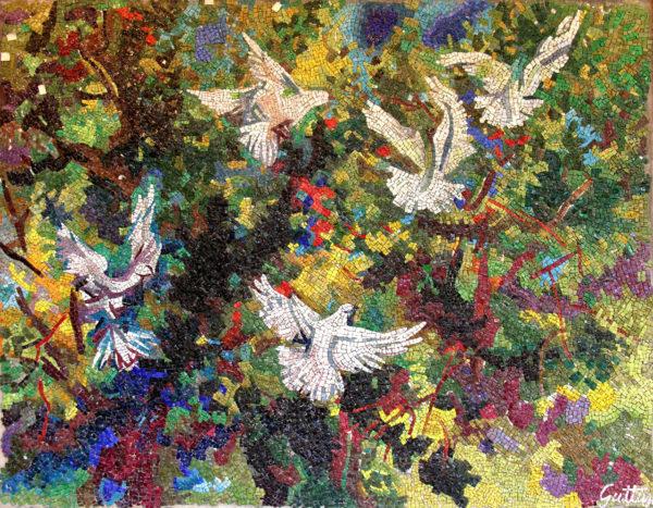 Volo di colombe sullaranceto guttuso 600x467 YourNextDesign: larte del dettaglio, il mosaico | Clast srl: porte, portoni, sicurezza, cancelli, automazioni. Via Soncino 5, Trescore Cremasco