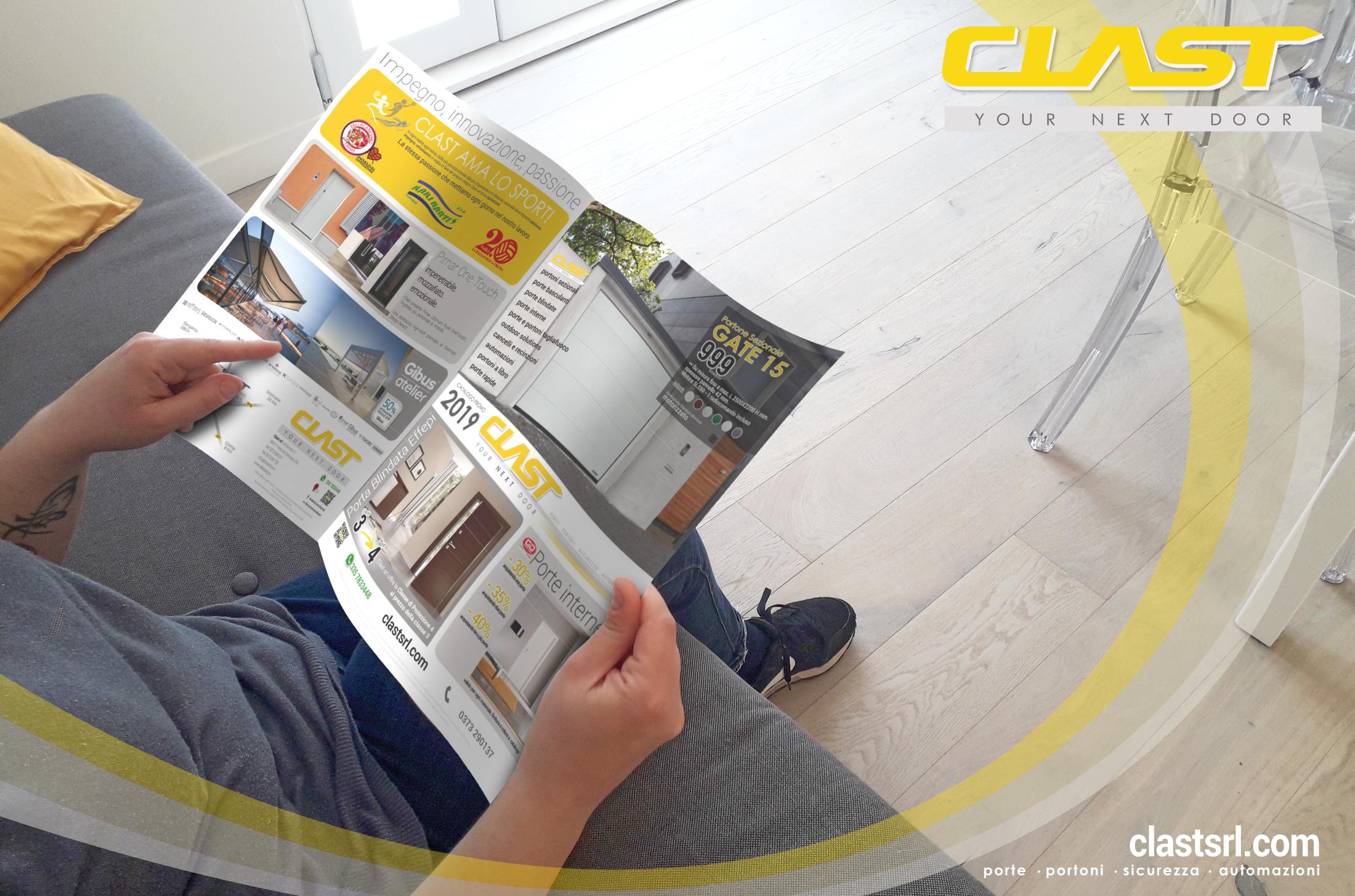 VOL10 Volantino PROMO 2019 | Clast srl: porte, portoni, sicurezza, cancelli, automazioni. Via Soncino 5, Trescore Cremasco