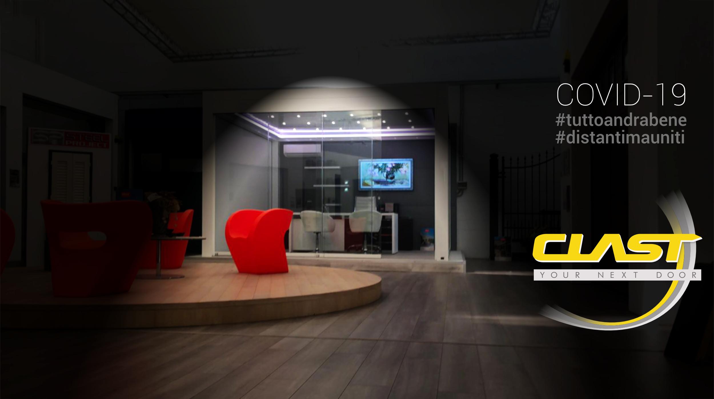 COVID homepage | Clast srl: porte, portoni, sicurezza, cancelli, automazioni. Via Soncino 5, Trescore Cremasco